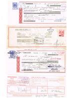 4 Doc. Style Lettre De Change Espagnol Timbre Fiscal Denia Bilbao Gata De Gorgos Alicante Soc Esp. Oxigeno Madrid - Spain