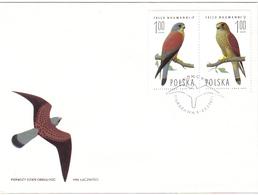 POLAND, FDC, Birds   /  POLOGNE  Lettre De Première Jour, Oiseaux,  1975 - Adler & Greifvögel