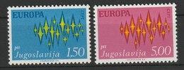MiNr. 1457 - 1458 Jugoslawien  / 1972, 3. Mai. Europa. - 1945-1992 Sozialistische Föderative Republik Jugoslawien