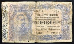 10 LIRE VITTORIO EM. III° Dell'ara Altamura 1911 R3 RRR  LOTTO 492 - [ 1] …-1946 : Kingdom