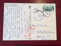 Norvege - Carte Postale Pour La Suisse - Taxée (3 Cachets) - (W1086) - Norwegen