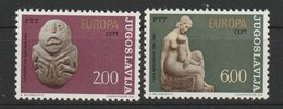 MiNr. 1557 - 1558  Jugoslawien  / 1974, 29. April. Europa: Skulpturen. - 1945-1992 Sozialistische Föderative Republik Jugoslawien