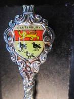 CANTERBURY Cuillére à Café De Collection Avec Sa Boite - Obj. 'Souvenir De'