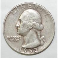 USA - QUARTER DOLLAR - 1952 S - TRES TRES BEAU - - Émissions Fédérales