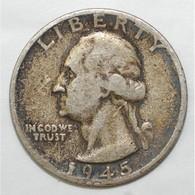 USA - 1/4 DOLLAR 1945 S - TRES BEAU A TRES TRES BEAU - - Federal Issues