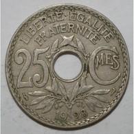 GADOURY 380 - 25 CENTIMES 1928 TYPE LINDAUER - TB - KM 867 - - France