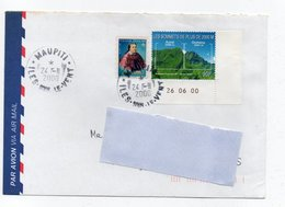 Enveloppe Avec Oblitération Rare  Ile  De  MAUPITI    Iles Sous Le Vent - Polynésie Française