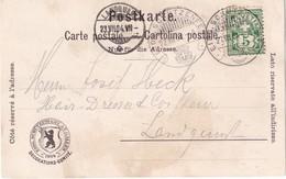 SUISSE 1904 CARTE POSTALE CACHET EIDGE. SCHÜTZENFEST ST.GALLEN - 1882-1906 Armarios, Helvetia De Pie & UPU