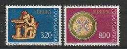 MiNr. 1635 - 1636 Jugoslawien  / 1976, 26. April. Europa: Kunsthandwerk. - 1945-1992 Sozialistische Föderative Republik Jugoslawien