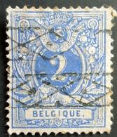 Belgique Lion Couché Lot De 6 Timbres Oblitérés à Voir , Used - 1869-1888 Lion Couché