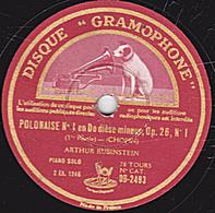 78 Trs 30 Cm état TB (CHOPIN)  POLONAISE N°1 En Do Dièse Mineur Op. 26 N°1 (1re Partie Et Fin) ARTHUR RUBINSTEIN - 78 T - Disques Pour Gramophone