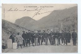 Cpa - 05 -    A La Frontiere ---groupe Franco -italien   1905 - Autres Communes