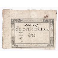 ASSIGNAT DE 100 FRANCS - 18 NIVOSE AN 3 - 07/01/1795 - DOMAINES NATIONAUX - TB - Assignats