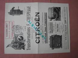 CITROEN 1927 F. Crespelle Ex Chef Service Sportif Usines Citroen Doc. 4 Feuilles 21X27 - 1900 – 1949