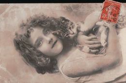 5420A  CHAT   1909   TIMBRE   ECRITE - Cats