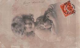 5420A  CHAT   1910   TIMBRE   ECRITE - Chats