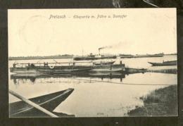 CP-PRETZSCH - Elbepartie M. Fähre U. Dampfer - Germania