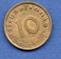 Allemagne -  10 Reichspfennig 1938 A  - Km #92  -- état  TTB+ - [ 4] 1933-1945 : Third Reich