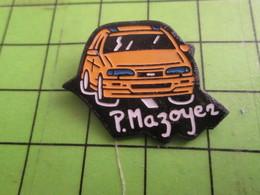 1012c Pin's Pins /  Belle Qualité Et Rare / THEME AUTOMOBILE : VOITURE JAUNE P MAZOYER - Badges