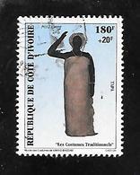 TIMBRE OBLITERE SURCHARGE DE COTE D IVOIRE  DE 1998 N° MICHEL A 1199 - Côte D'Ivoire (1960-...)