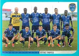 Stickers Panini France Foot 2016-2017 - 916 - Troyes - Équipe Troyes - Voir Scans Recto-Verso - Panini