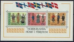 Dänemark Färöer Faroer Foroyar 1983 - Trachten - MiNr Block 1 (90-92) - Kostüme