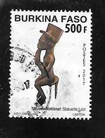 TIMBRE OBLITERE DU BURKINA DE 2017 - Burkina Faso (1984-...)