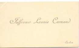 Visitekaartje - Carte Visite - Leonie Cornand - Eeclo Eeklo - Cartes De Visite