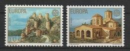 MiNr. 1725 - 1726 Jugoslawien  / 1978, 3. Mai. Europa: Baudenkmäler. - 1945-1992 Sozialistische Föderative Republik Jugoslawien