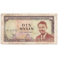 GUINEE - PICK 16 - 10 SYLIS - 1971 - TB - Guinea