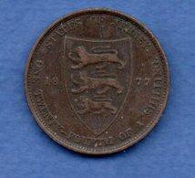 Jersey -   1/24 Shilling 1877 - Km # 7  -- état  TTB - Jersey