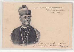 Josip Juraj Strossmayer Old Postcard Travelled 1905 Metlika To Jesenice B181201 - Kroatië