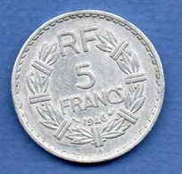 5 Francs 1946 B  -  état  TTB - France