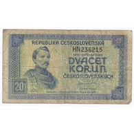 TCHECOSLOVAQUIE - PICK 61 - 20 KORUN 1945 - B - Tchécoslovaquie