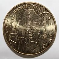 65 - LOURDES - LE PAPE BENOIT XVI - JUBILATE - 1858 - MDP - 2008 - - Monnaie De Paris