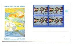 FDC 1978 VIVRE EN PAIX NATIONS UNIES - New York -  VN Hauptquartier