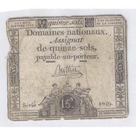 ASSIGNAT DE 15 SOLS - SERIE 1049 - 04/01/1792 - B - Assignats