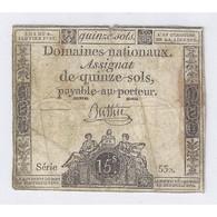 ASSIGNAT DE 15 SOLS - SERIE 532 - 04/01/1792 - B - Assignats & Mandats Territoriaux