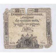 ASSIGNAT DE 15 SOLS - SERIE 562 - 04/01/1792 - B - Assignats