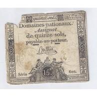 ASSIGNAT DE 15 SOLS - SERIE 602 - 04/01/1792 - B - Assignats
