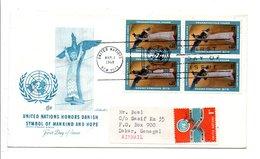 LETTRE POUR LE SENEGAL 1968 SYMBOLE NATIONS UNIES - Lettres & Documents