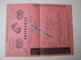 Ets Griffault Sellerie, Harnais, Voitures 48 Faubourg Du Temple Paris Vers 1890/1900 (18 Voitures Hippomobiles) - Sports & Tourism