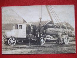 """21- COUCHEY - CTE PHOTO  """" ENTREPRISE GUEUX A COUCHEY """" - CAMION TRANSPORTANT DES GRUMES, DES TRONCS, BOIS - """" TRES RARE - Francia"""