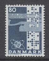 TIMBRE NEUF DU DANEMARK - CENTENAIRE DE L'UNION INTERNATIONALE DES TELECOMMUNICATIONS N° Y&T 439 - Télécom