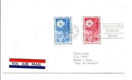 LETTRE POUR LE SENEGAL 1975 NATIONS UNIES - Lettres & Documents