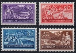 Liechtenstein N° 137 à 140 Neufs ** - Travaux Pour Combattre Le Chomage - Liechtenstein
