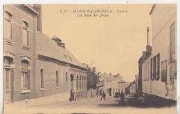 Mons-en-Pevèle (Nord) - La Rue St-Jean - Animé  - Edit. Lucien Pollet, Lille - France