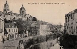 SEGRE - Palais De Justice Et Les Quais De L'Oudon. Carte Rare - Segre