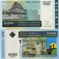 MADAGASCAR 10,000 Ariary  ND 2009 UNC - Macédoine