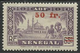 SENEGAL 1944 YT 195** - SURCHARGE - Sénégal (1887-1944)